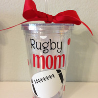 16oz Rugby Mom Tumbler