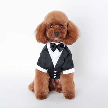 Pet Tuxedo Bow Tie Dog Clothes, Puppy Clothes & Cat Clothes