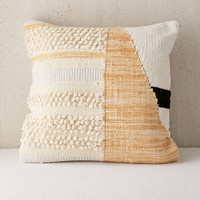 Colorblock Woven Loop Pillow - Urban Outfitters