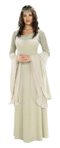 Deluxe Arwen Dress & Tiara - Authentic Lord of the Rings Costumes