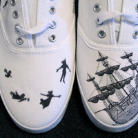Custom Peter Pan Canvas Sneaker by ShadedElephant on Etsy