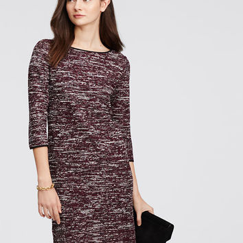 Marled Knit Sheath Dress | Ann Taylor