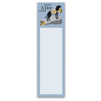 Never Hike Alone Magnetic List Notepad in Dog Design