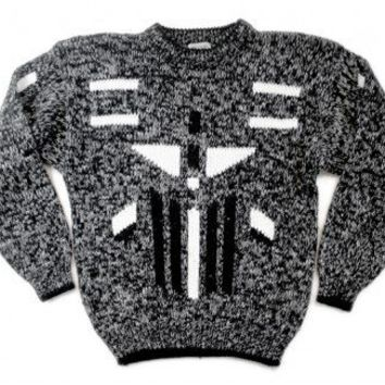 Shop Now! Ugly Sweaters: Airplane! Vintage 80s Chunky Knit Tacky Ugly Cosby Sweater Men's Size Medium/Large (M/L) $22