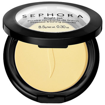 SEPHORA COLLECTION Bright Set Pressed Finishing Powder (0.30 oz 01 Banana)