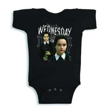 WEDNESDAY ADDAMS TODDLER Onesuit | BLACK