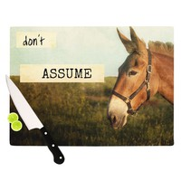 "Catherine McDonald ""Don't Assume"" Cutting Board"