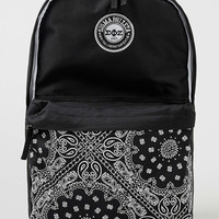 Black Bandanna Fraternity Backpack - Bags - Shoes and Accessories - TOPMAN USA