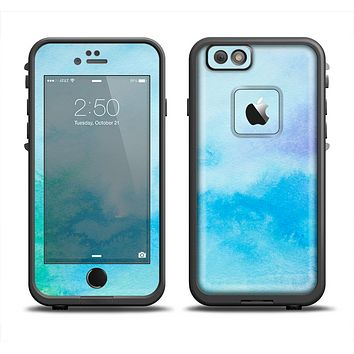 The Subtle Green & Blue Watercolor V2 Skin Set for the Apple iPhone 6 LifeProof Fre Case
