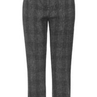 Mensy Checked Peg Trousers - Grey