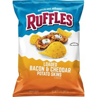 Ruffles Loaded Bacon & Cheddar Potato Skins Potato Chips, 8.5 oz Bag - Walmart.com