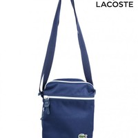LACOSTECANVAS ZIP CROSSOVER BAG - NAVY