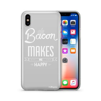 Henna Bacon Makes Me Happy - Clear TPU Case Cover Phone Case