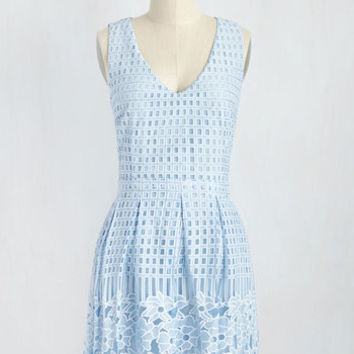 Fairest on the Terrace Dress in Sky | Mod Retro Vintage Dresses | ModCloth.com