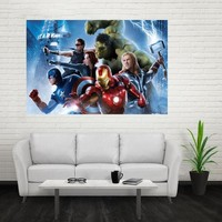 Nice Avengers  Age of Ultron Poster Custom Canvas Poster Art Home Decoration Cloth Fabric Wall Poster Print Silk Fabric Print