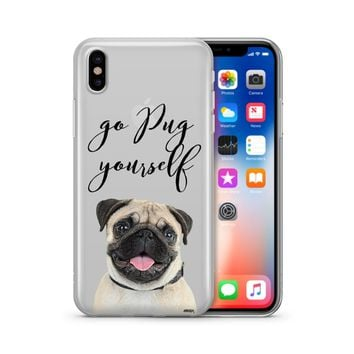 Go Pug Yourself - Clear Case Cover Phone Case
