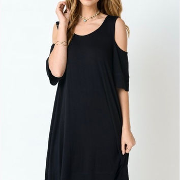 Bentley Cold Shoulder Dress