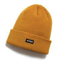 Small Patch Watch Cap Beanie Mustard