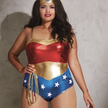 "Plus Size ""American Hottie"" Costume"