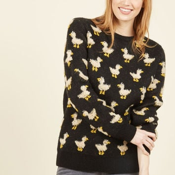 Ducks and Cover Sweater | Mod Retro Vintage Sweaters | ModCloth.com