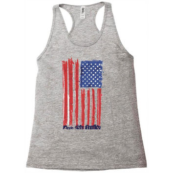 4th of july flag Racerback Tank
