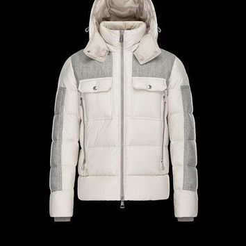 Moncler Lioran Down Quilted Wool Coat