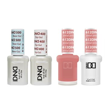 DND - Base, Top, Gel & Lacquer Combo - Jovial - #612