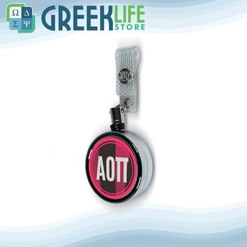 Alpha Omicron Pi Badge Reel Holder