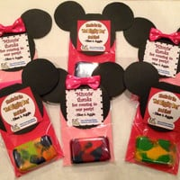 Mickey Mouse and Minnie Mouse inspired Party Favors -  Crayons with Custom Label - Price Breaks start at 5 packs