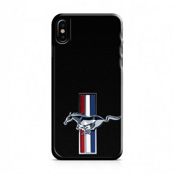FORD MUSTANG CARBON FIBER iPhone X Case