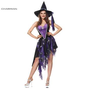 Charmian Women's Deluxe Sexy Sorceress Beauty Witch Halloween Plus Size Anime Cosplay Costume Fantasias Feminina Para Festa