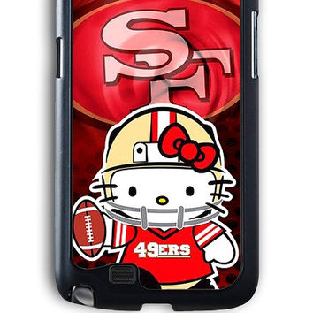 Samsung Galaxy Note 2 Case - Hard (PC) Cover with 49ers Hello Kitty Plastic Case Design