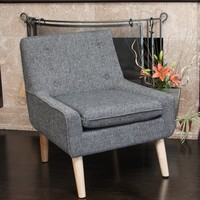 Reese Tufted Fabric Retro Mid-century Style Chair by Christopher Knight Home | Overstock.com Shopping - The Best Deals on Living Room Chairs