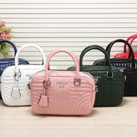 Newwest PRADA Women Fashion Leather Satchel Mini Tote Handbag Shoulder Bag 6 Colors