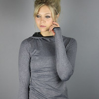Grey Hooded Top