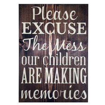 Please Excuse The Mess, Home Signs, Family Signs, Wood Sign Wall Art, 11x16