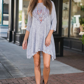 Texture In Motion Tunic, Gray