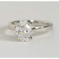 1.50ct  Oval Diamond Engagement Ring EGL certified 18kt gold  JEWELFORME BLUE