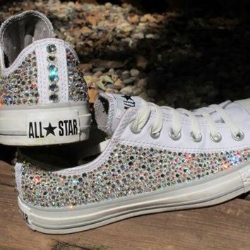 7d87c0525189 CREYUG7 Swarovski Crystal Converse All Stars Not by SparkleByAri