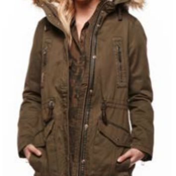 Dex Hooded Parka Coat with Removable Lining