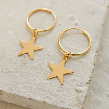 Charm Hoops - Large Star