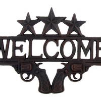 Cast Iron Star & Gun Welcome Sign | Shop Hobby Lobby