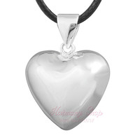 1PC heart jingle bell WISHING BALL CHIME BABY BALL angel soundMUSICAL chime ball angel caller 16/18mm bijoux chime bola ball