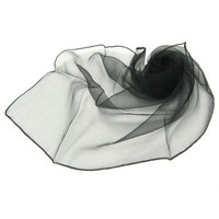 Black Thin Square Fashion Neck Scarf Tie Head Wrap - Many Colours Available