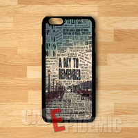 Band A Day To Remember lyric collage -Lxmi for iPhone 4/4S/5/5S/5C/6/ 6+,samsung S3/S4/S5/S6 Regular,samsung note 3/4