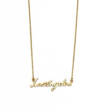 City Cursive Necklace