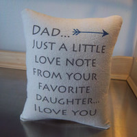 Best gift for Dad pillow from daughter throw pillow birthday gift