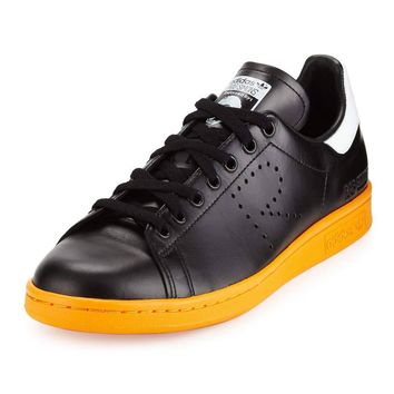 "Adidas x Raf Simons ""Stan Smith"" Orange Sole Sneakers"