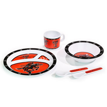 Texas Tech Red Raiders Kid's 5 Pc. Dish Set