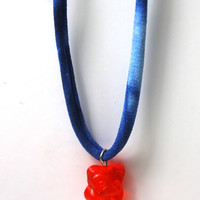 Gummy Bear Necklace - Red/Blue